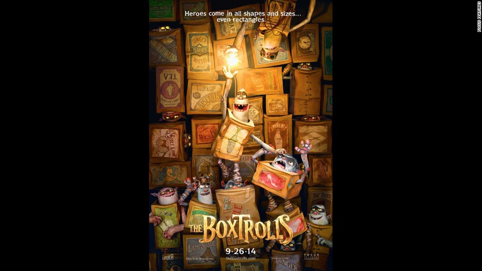 "<strong>""The Boxtrolls""</strong> (September 26): The creative team behind ""Coraline"" and ""ParaNorman"" have adapted Alan Snow's colorful children's book ""Here Be Monsters!"" for the big screen."