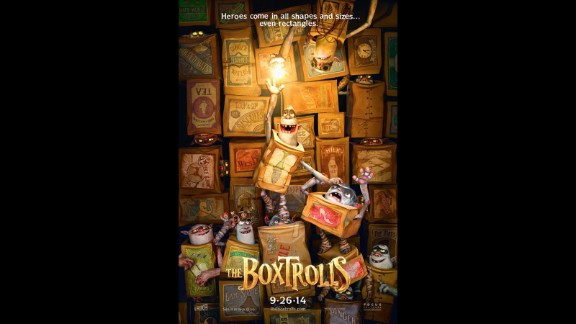 """""""The Boxtrolls"""" (September 26): The creative team behind """"Coraline"""" and """"ParaNorman"""" have adapted Alan Snow's colorful children's book """"Here Be Monsters!"""" for the big screen."""