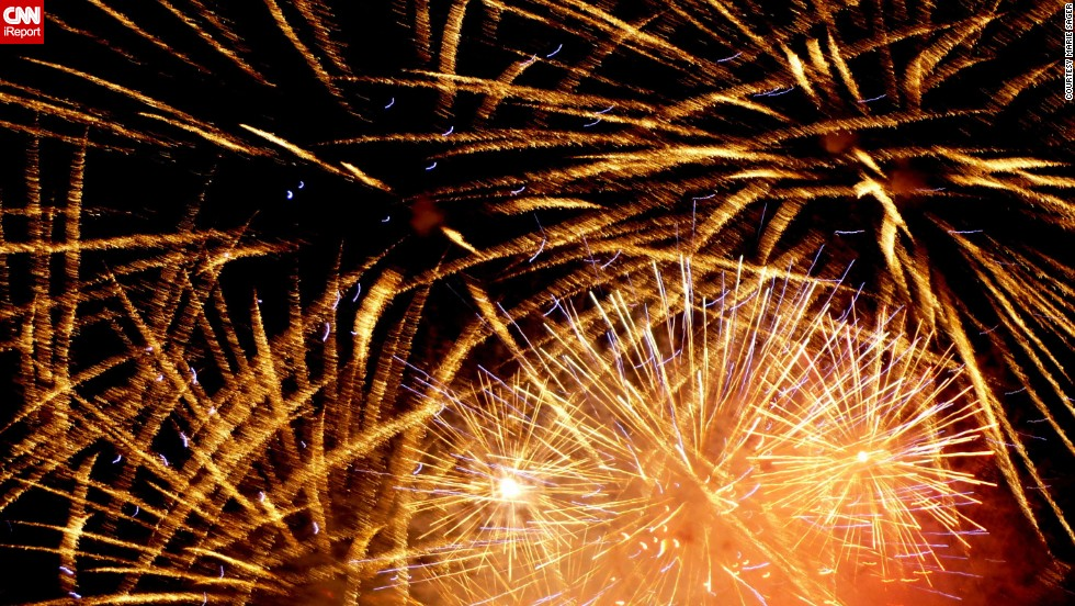 "Marie Sager shot these <a href=""http://ireport.cnn.com/docs/DOC-997414"">lovely fireworks</a> in 2010 in Studio City, California, on the CBS studio lot. She used a Panasonic Lumix, which to her surprise, had a ""fireworks"" setting."