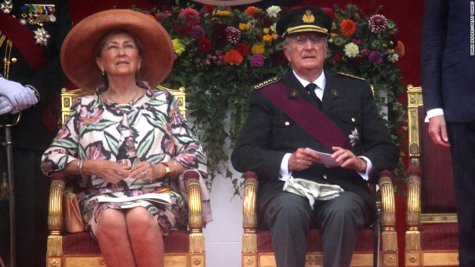 Queen Paola and King Albert II attend the National Day Parade at Place des Palais on July 21, 2011 in Brussels.