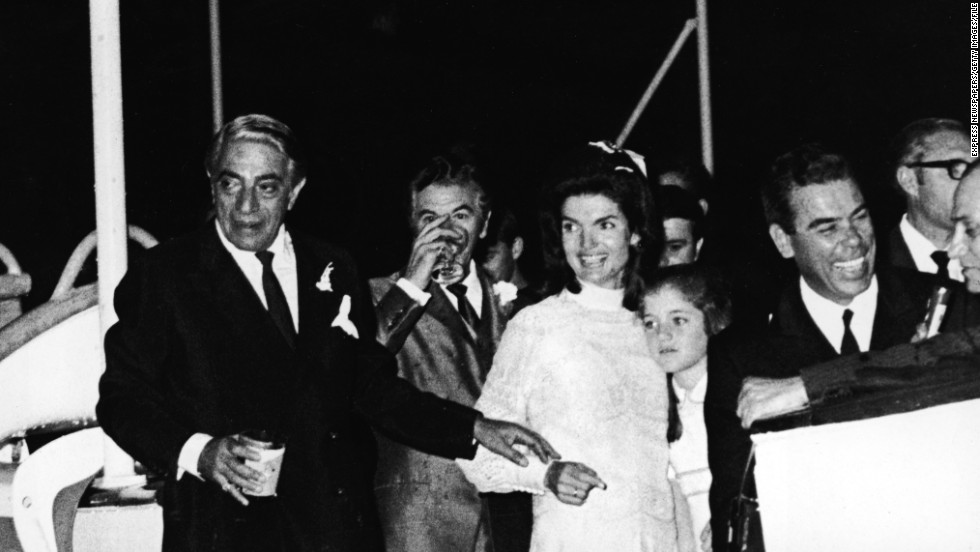The pair wed in 1968, sailing to Onassis' private island Scorpios. It certainly wasn't the first romance on the elegant yacht.