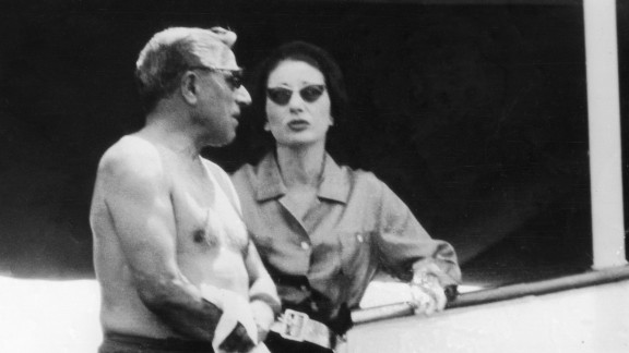 Before Jackie, Onassis embarked on a whirlwind love affair with opera singer Maria Callas (pictured in 1959). The yacht played host to a number of Hollywood stars, including Marilyn Monroe, Frank Sinatra, and Elizabeth Taylor.