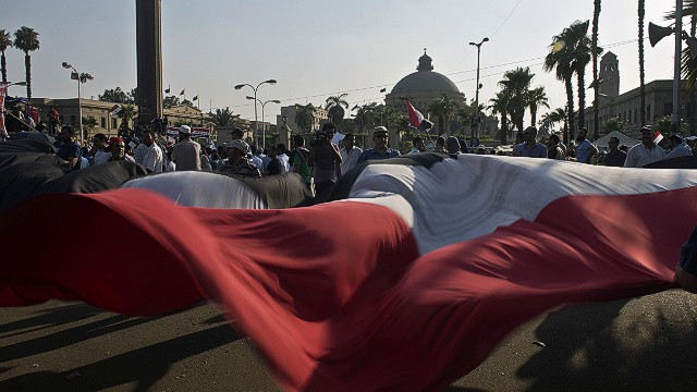 Pro-Morsy crowd: Down with military rule
