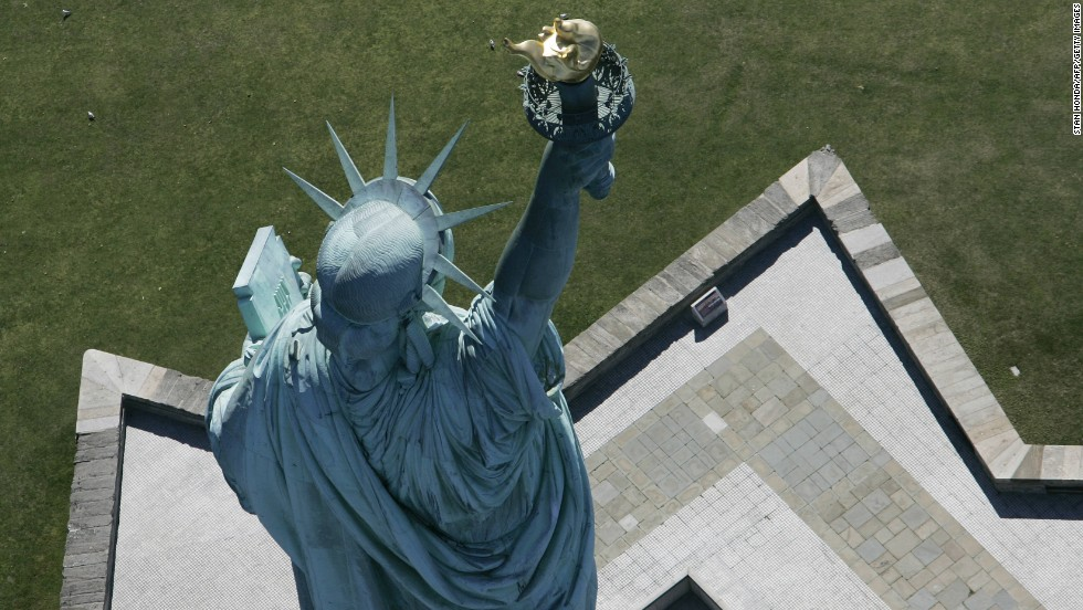 The Statue of Liberty from above in 2007.