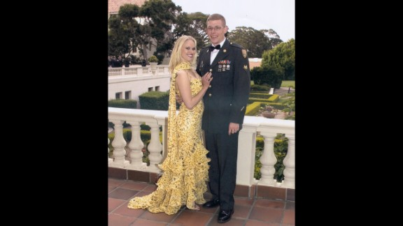 Daniel and Angel before a military ball in Phoenix.  Angel studied nursing during Daniel