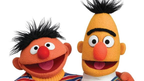 """Sesame Street's"" Muppet characters were originally intended to be support for the human cast, but test audiences responded so warmly to Bert and Ernie's sketches that the producers put Muppets in starring roles. The comic duo have been two of the show's most popular characters ever since."