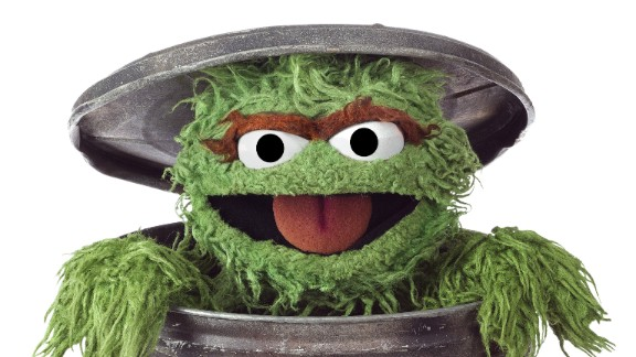"A bad-tempered green monster who loves ""anything dirty or dingy or dusty"" and lives in a trash can: perhaps not an obvious choice for a children's TV hero. Yet Oscar the Grouch, whose ambition is to be as miserable as possible, has failed to ruin viewers moods, bringing humor and fun to the Street."