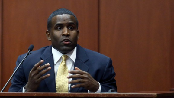Alexis Carter, a military prosecutor, testifies during the trial on July 3.  Carter taught a criminal litigation class that Zimmerman completed, and testified that the class included extensive coverage of Florida's self-defense laws.