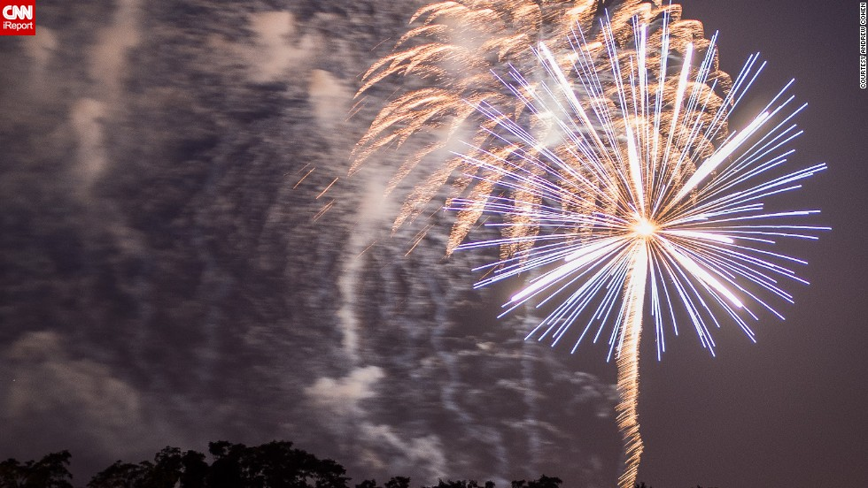 "Andrew Cohen captured this photo at the 2013 Ocean Township, New Jersey, <a href=""http://ireport.cnn.com/docs/DOC-999985"">fireworks show</a> on July 3. His tips for the perfect shot? ""Must use tripod, (it helps to use) remote control, and keep shooting."""