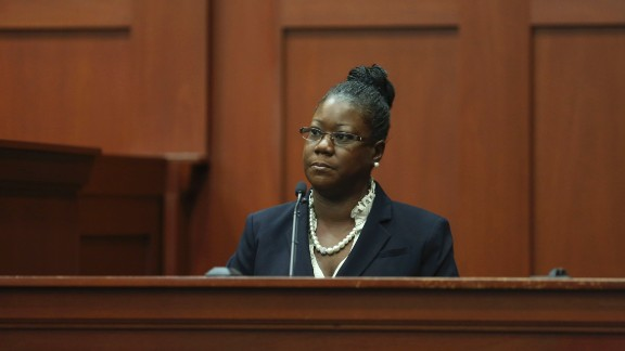Sybrina Fulton, mother of Trayvon Martin, takes the stand during Zimmerman's trial on Friday, July 5.