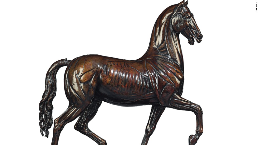 This bronze model of an Echoche Horse made by Giuseppe Valadier (1762-1839) is worth an estimated $2,142,554.