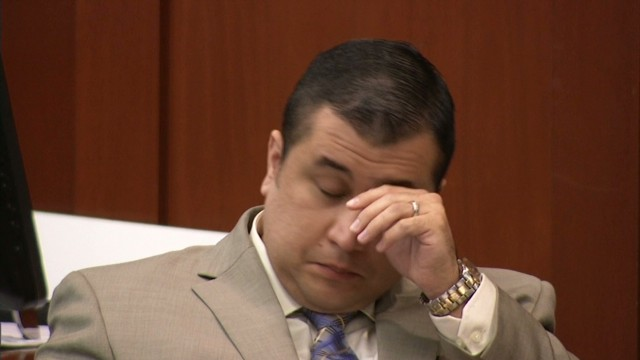 Did Zimmerman tear up in court?