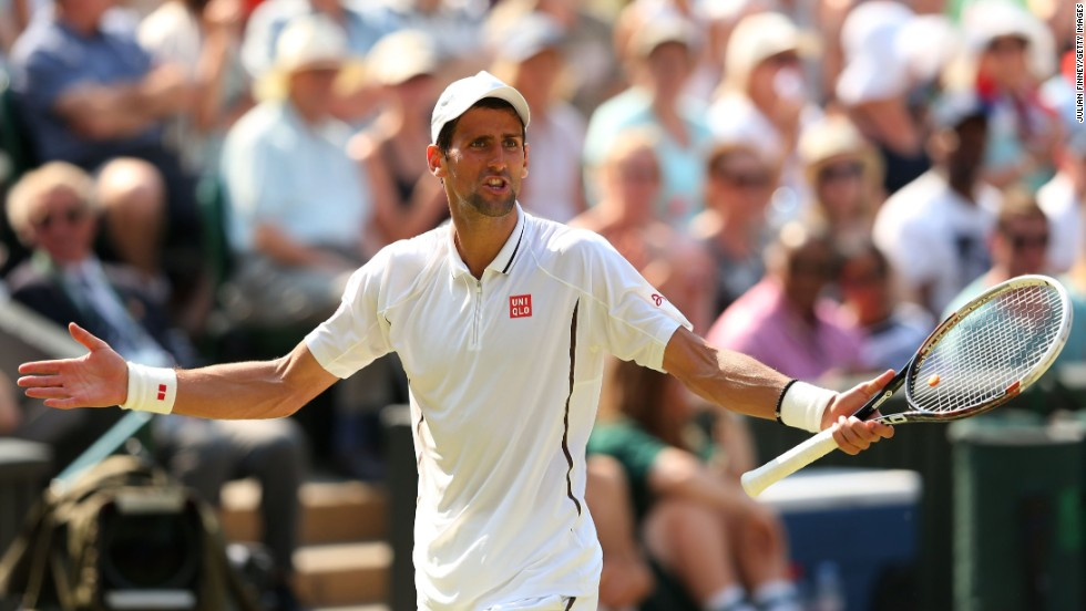 Djokovic had enjoyed a 4-1 lead in the second set but appeared to implode as Murray fought back to level at 4-4 before taking it 7-5.