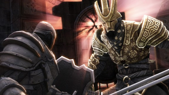 """""""Infinity Blade II,"""" the popular fantasy roleplaying game exclusive to Apple devices, was among apps offered for free on Monday."""