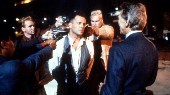 """""""Hudson Hawk"""" (1991): Another film done in by a bloated budget, poor marketing and backroom gossip (star Bruce Willis, center, was the subject of several rumors). The film by """"Heathers"""" director Michael Lehmann was one of the biggest bombs of the 1990s. But more recent takes say it makes a pretty decent screwball comedy."""