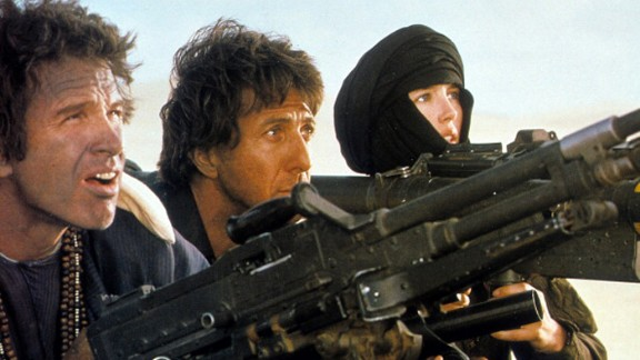 """""""Ishtar"""" (1987): The title of this Elaine May film, starring Warren Beatty, left, and Dustin Hoffman as a singing team, has become shorthand for """"turkey."""" But Hitfix's Drew McWeeny stands up for the Hope/Crosby-style comedy: Despite some shagginess, it has hilarious songs and """"really plays,"""" he says. Isabelle Adjani co-starred with Beatty and Hoffman."""