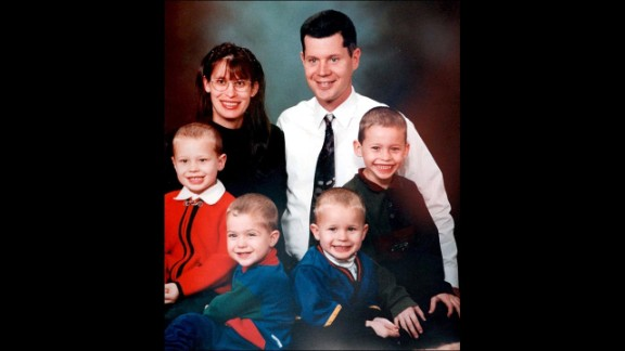 Andrea Yates was charged with capital murder in the 2001 deaths of her five children. After her initial conviction was overturned, Yates was found not guilty by reason of insanity and was ordered to a mental hospital on July 26, 2006. A family photo shows Andrea Yates; her husband, Russell; and their four boys, Luke, Paul, John and Noah.