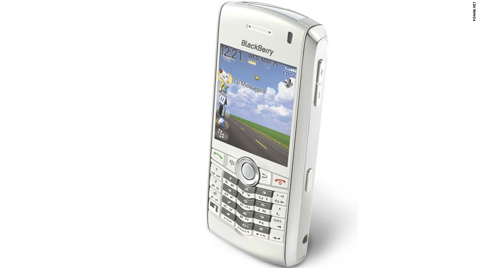 The BlackBerry Pearl in 2006 was the first BlackBerry to have that iconic navigation ball you might remember replacing. It was also the first BlackBerry with a camera, and the company's smallest phone.