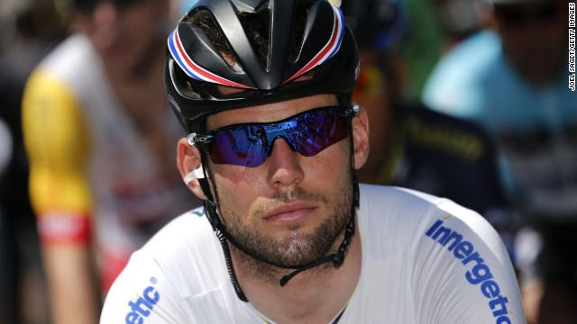 Mark Cavendish took to Twitter to defend himself against accusations he had deliberately nudged Tom Veelers.