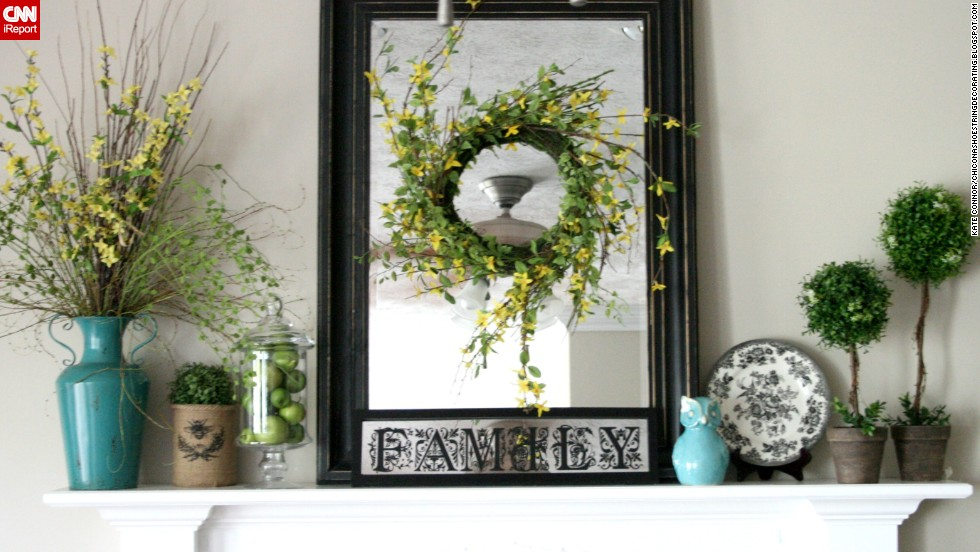"<a href=""http://ireport.cnn.com/docs/DOC-1002377"">Kate Connor</a> from Illinois kept her budget in mind while creating this colorful mantel display for summer."
