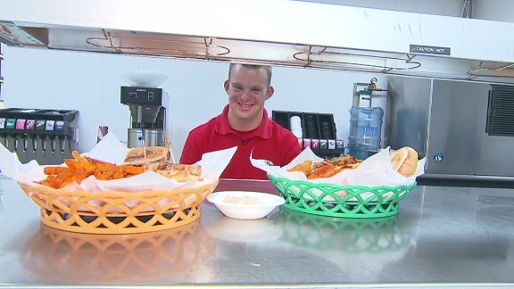 Tim Harris, who has Down syndrome, always dreamed of owning his own business. His restaurant serves breakfast, lunch and hugs. Read more.