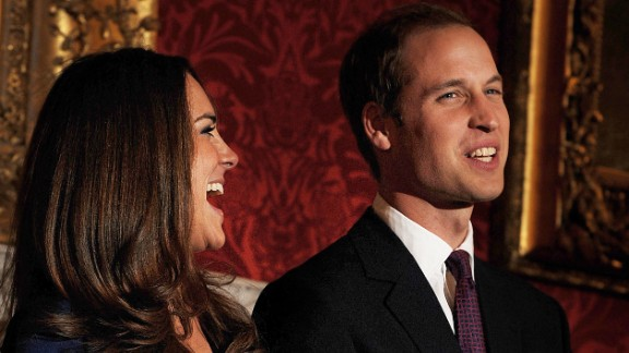 The couple poses for photographers to mark their engagement in November 2010. Catherine received the engagement ring that belonged to William