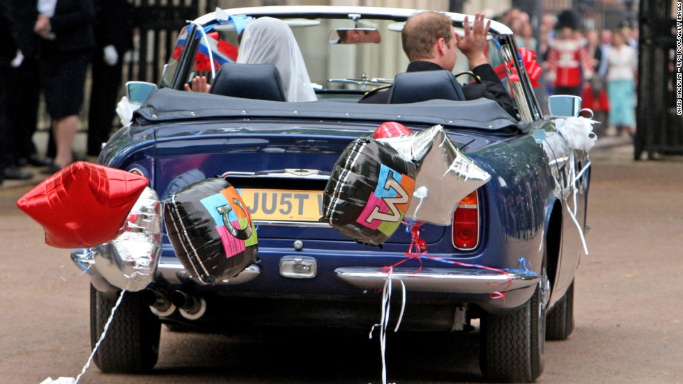 After their wedding on April 29, 2011, the couple drove from Buckingham Palace to Clarence House in a vintage Aston Martin.