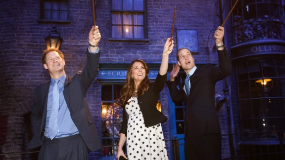 "In April 2013, Harry, Catherine and William make magic on the set used to depict Diagon Alley in the ""Harry Potter"" films."