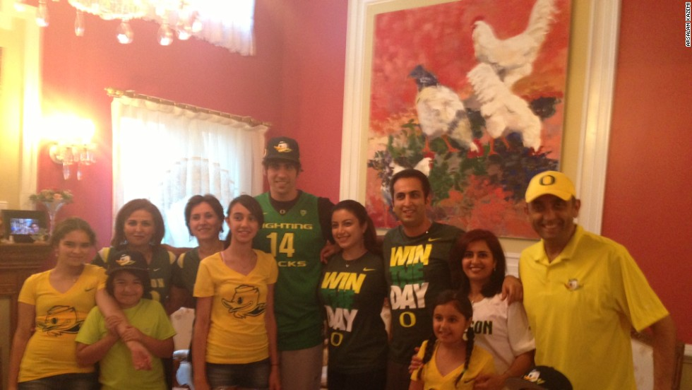 Kazemi watched the NBA Draft with members of his family, all decked out in University of Oregon attire. He was drafted 54th by the Washington Wizards.