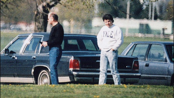 This undated surveillance photo released by the U.S. Attorney's Office in Boston shows Bulger, left, with his former right-hand man, Kevin Weeks. Weeks took the witness stand at Bulger's racketeering trial and described a double slaying, multiple extortions and drug dealing.