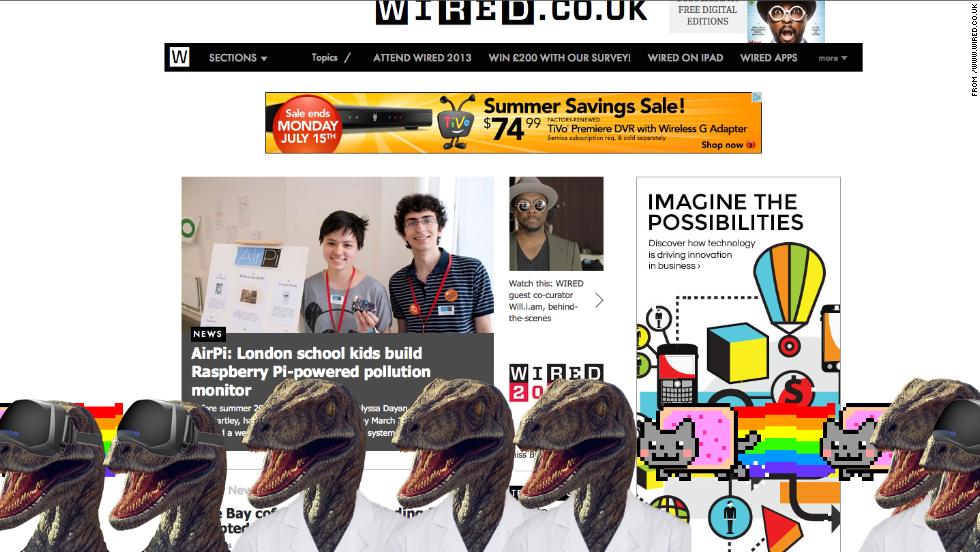 Dapper dinosaurs take over Conde Nast UK websites - CNN