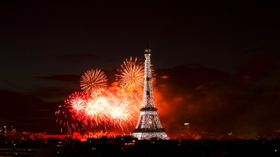 Daniel Kahan Patu snapped this photo of the Bastille Day fireworks from his in-laws
