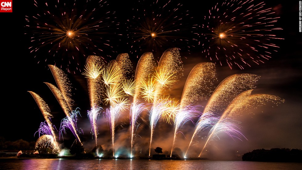 "Rob Watling taught himself to take photos of fireworks when he decided to work part-time for Britannia Fireworks. He took this spectacular shot at the <a href=""http://ireport.cnn.com/docs/DOC-998128"" target=""_blank"">Southport Pyromusical Championships</a> in summer of 2012. ""There's a bit of an art to it (and quite a lot of luck!) but I really enjoy the challenge of trying to convey the movement and combination of the different fireworks,"" the 57-year-old Executive Coach says."