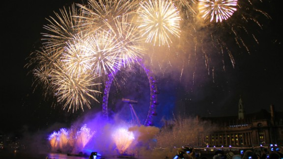 Kenneth Ngyuwai celebrated the first moments of 2013 in London where he snapped the crescendo of the New Year
