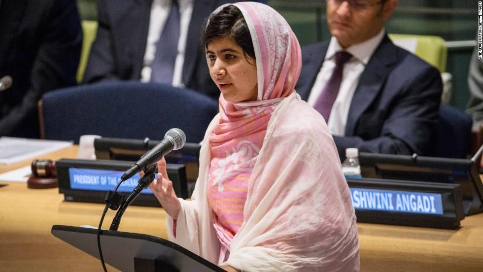 Image result for malala yousafzai un speech 2013