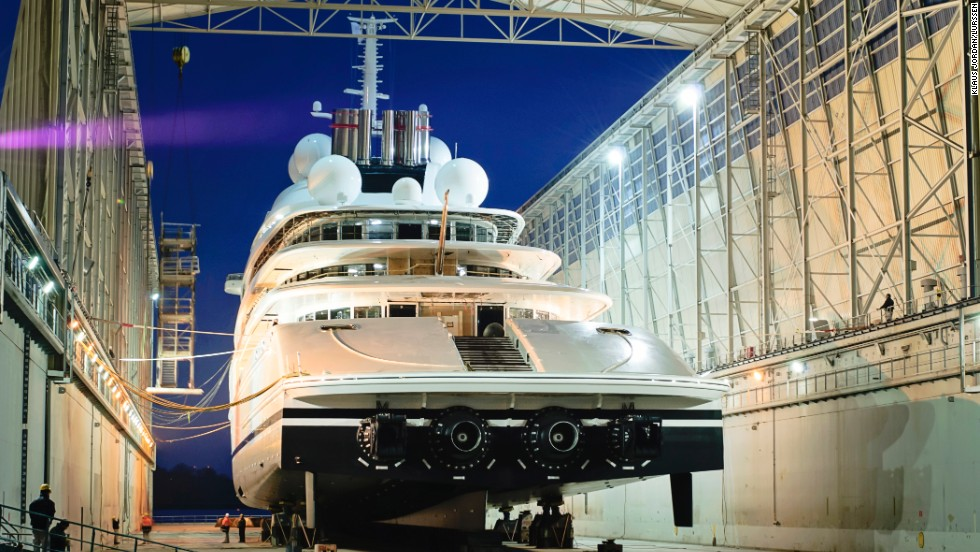 The vessel is powered by two gas turbines and two diesel engines, with a total of 94,000 horse power.