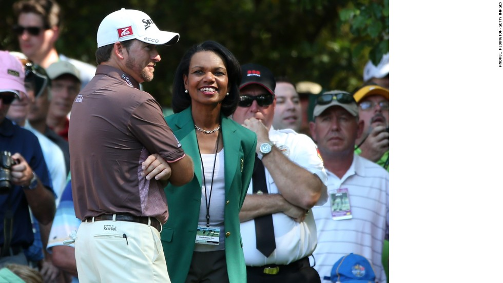 Condoleezza Rice broke new ground for women in golf when Augusta invited the former U.S. Secretary of State and businesswoman Darla Moore to join the club as its first female members.