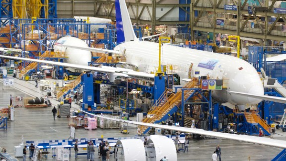 The United States is one of the world's biggest producers (PDF) of aircraft, aircraft engines and supply parts, though it relies heavily on international markets for their sales. Aerospace manufacturing is an important part of the U.S. manufacturing base, making up 2.8% of the nation's manufacturing work force in 2008 and employing more than 500,000 Americans in high-skilled and high-wage jobs. Boeing is the world's largest aerospace company, though parts of its Dreamliner (pictured) have been outsourced to a global supplier network.