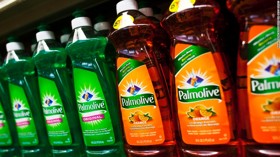 American-made dishwashing liquid and detergents also have a large footprint thanks to Colgate-Palmolive.