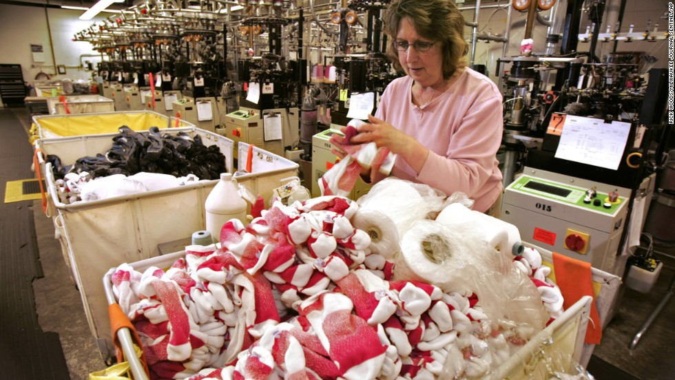 "A surprising amount of American companies are dedicated to making socks, including <a href=""http://www.wigwam.com/"" target=""_blank"">Wigwam Mills</a>, which has been in production in Sheboygan, Wisconsin, for more than 100 years."