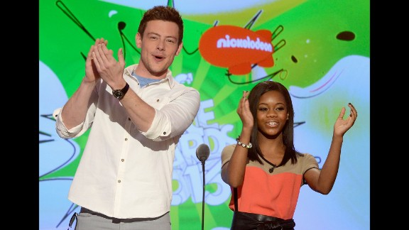 Monteith and Olympic gymnast Gabby Douglas appear at the Kids
