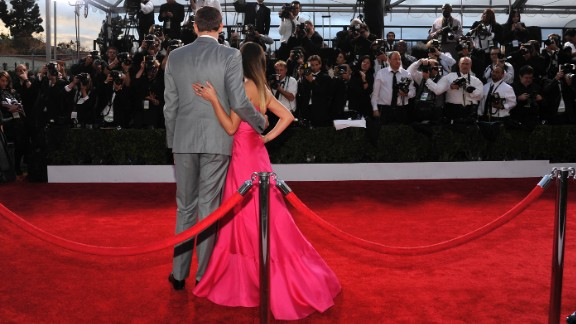 Monteith and Michele pose on the red carpet at the Screen Actors Guild Awards on January 27 in Los Angeles.