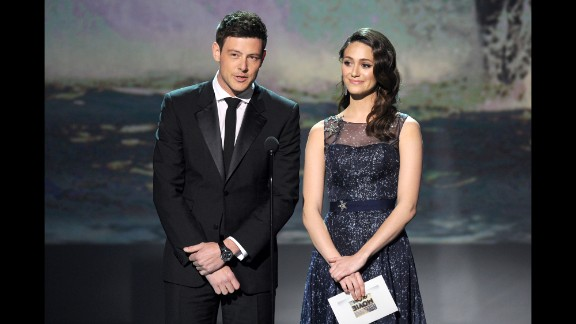 Monteith and Emmy Rossum attend the Critics