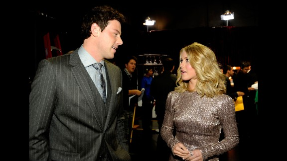 Monteith and Julianne Hough chat at the 2012 People