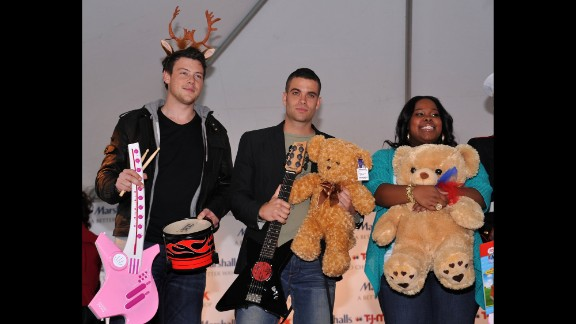 "Monteith, Mark Salling and Amber Riley attend the ""Carol-Oke"" contest at New York"