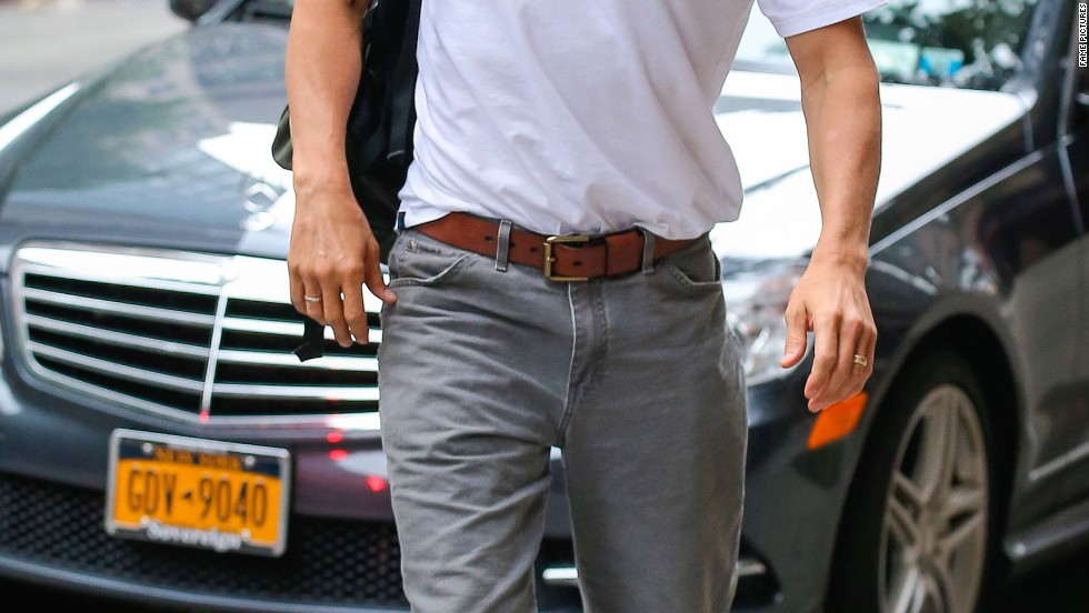 Matthew McConaughey heads for his hotel in New York City on July 12.