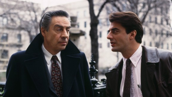 """During his 12 years on """"Law & Order,"""" Jerry Orbach (left) starred as Detective Lennie Briscoe, and was partnered with a few actors, including Chris Noth as Detective Mike Logan. His character had retired from the force when he joined the spin-off """"Law & Order: Trial By Jury,"""" where Briscoe was written out of the show after Orbach's death in 2004 from prostate cancer."""
