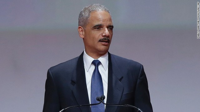 "Attorney General Eric Holder speaks at the Delta Sigma Thetas Social Action luncheon, part of the sorority's 51st National Convention in Washington, Monday, July 15, 2013. Holder said the killing of Trayvon Martin was a ""tragic, unnecessary shooting"" and that the 17-year-old's death provides an opportunity for the nation to speak honestly about complicated and emotionally charged issues. In his first comments since the acquittal of George Zimmerman in the Martin case, the attorney general said that Martin's parents have suffered a pain that no parent should have to endure. He said the nation must not forgo an opportunity toward better understanding of one another. (AP Photo/Pablo Martinez Monsivais)"