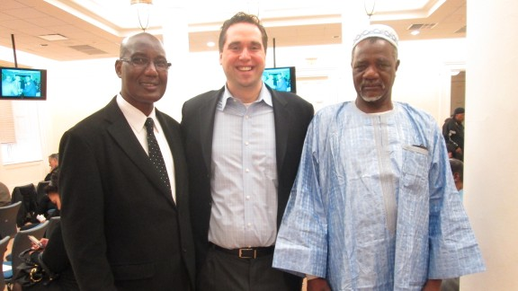 Abolition Institute co-founders Bakary Tandia, left, and Sean Tenner, center.