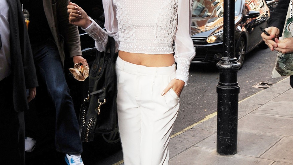 Vanessa Hudgens dons all-white while out in London, England on July 16.